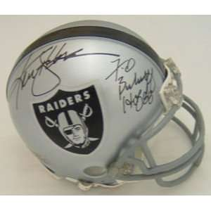 Ken Stabler/fred Biletnikoff Signed Raiders Mini Helmet