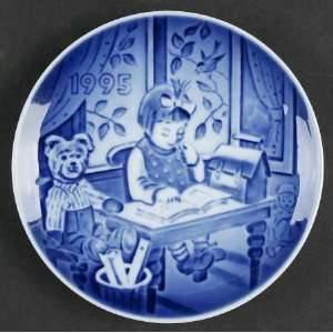 1995 Bing & Grondahl Childrens Day Plate    My First Book    Fine