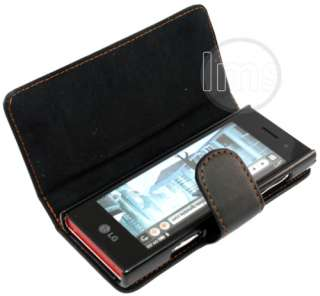 London Magic Store   LG CHOCOLATE BL40 BLACK LEATHER WALLET CASE II