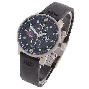 Gevril Gv2 Mens Black Dial Automatic Black Strap Chronograph Watch
