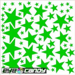 34 Kelly Green Stars Wall Stickers Decals Words Quotes