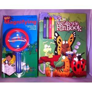 Big Magnifying Glass and Bug Lifecycle Fun Book Set Toys