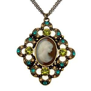 Acosta Jewellery   Vintage Style   Crystal Cameo Necklace Jewelry