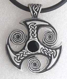 Triskele Trinity Celtic Knot Silver Pewter Pendant