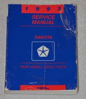 1993 DODGE DAKOTA 4X4 2X4 PICKUP TRUCK Factory Dealer Shop Service