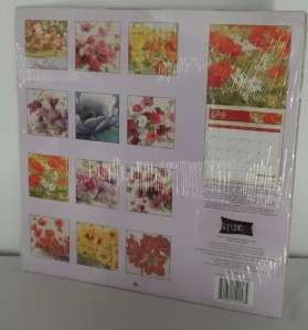 2012 Full Size Wall Calendar PAINTED FLORALS Flowers **NEW **Free