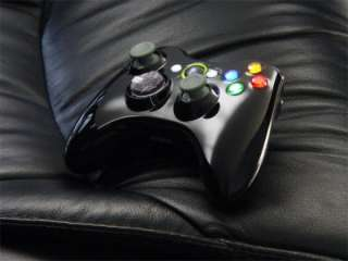 Xbox 360 Wireless Controller Shell Case Gloss Black Led