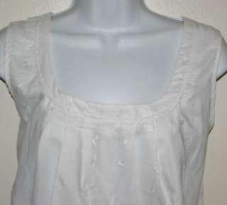 NWT ART & SOUL Womens White Babydoll Shirt Top Size Large L