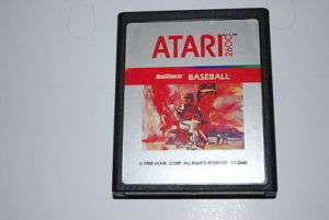 Baseball Atari 2600 Video Game CX2640 1988