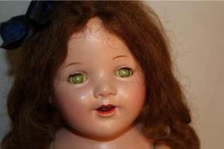 Big Antique Vintage Composition Mama Doll 27 Inch