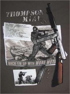 Thompson WW2 Machine Gun T shirt Design Artwork