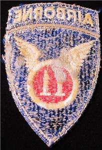 WWII 11th AIRBORNE SHOULDER SLEEVE PATCH WITH ROCKER PARATROOPER SSI