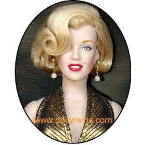 Marilyn Monroe Gold Lame Vinyl Doll Toys & Games