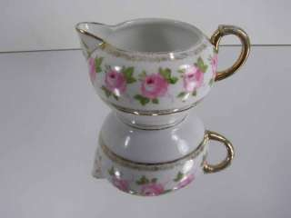 IMPERIAL CROWN CHINA AUSTRIA ART DECO CREAMER  ROSES PATTERN