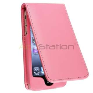 Light Pink Flip Leather Case Skin Pouch+Diamond Pro+Pen For iPhone 4 s
