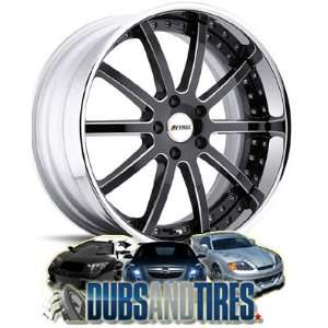 20 Inch 20x9 Petrol wheels Cellini Black Gloss Chrome Lip wheels rims