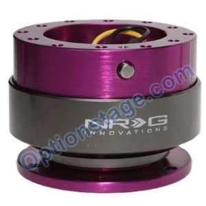 NRG Gen 2.0 Steering Wheel Quick Release Kit Purple Body with Titanium