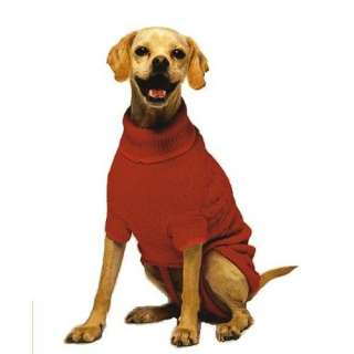 Fashion Pet Classic Medium Cable Dog Sweater, Red