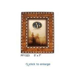 Western Picture Frame Hand Tooled Leather: Home & Kitchen