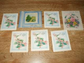 Vintage Box Of 1940s /50s Gift Wrap~10 Sheets~Cards& Ribbon