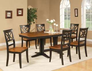 PC DINING ROOM SET TABLE 6 CHAIRS EXTENSION LEAF