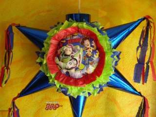 Pinata Toy Story 3 Buzz Woody Star Shape Holds Candy
