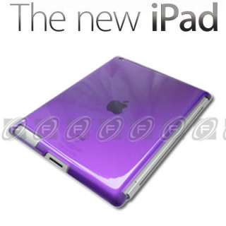 The New iPad 3rd Generation Hard Back Case Skin Work With Smart Cover