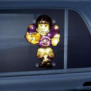 Baltimore Ravens Car Window Light Up Football Player