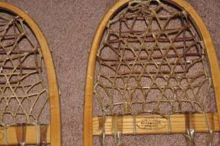 vtg Northwoods Brand Safesport MFG,Denver,wood/rawhide snowshoes