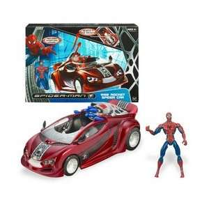 Man Battle Action Vehicle   Web Rocket Spider Car Toys & Games