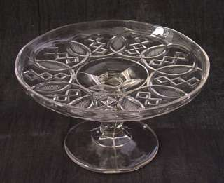 wonderful geometric pattern pedestal cake stand. The Washington