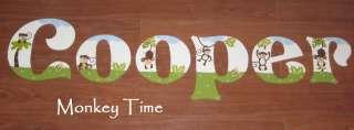 Wood Letter m/w Coco & Co Cocalo Monkey Time jungle