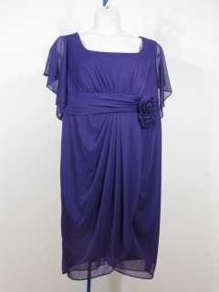 ONYX Evening Cocktail Purple Dress Sz 20W 20 Woman Plus Sz NWT