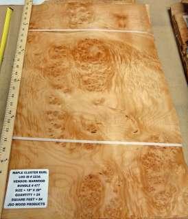 Cluster Burl wood veneer 18 x 28 with no backing (raw veneer) # 477