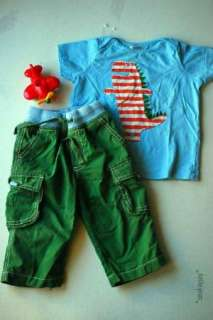 Mini Boden Baby Boys Green Trousers Skate Pants 12 18 m Cute