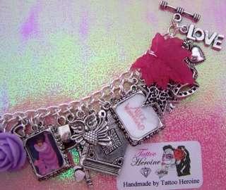 Cheshire Cat Alice In Wonderland Themed Charm Bracelet Handmade By