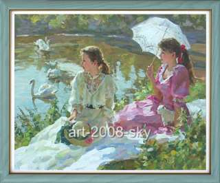 Original lmpressionosm women Oil painting female artsmall girl and