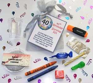 Personalised 40th Birthday Survival Kit Gift Card