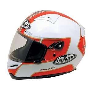 Vemar Eclipse Motorcycle Helmet   Metha White/Red Medium