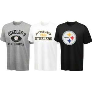 Steelers Youth Black, White, Grey 3 Tee Combo Pack