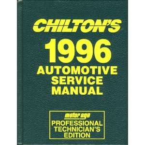 Chiltons 1996 Automotive Service Manual (Motor/Age