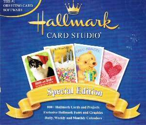 Hallmark Greeting Card Studio Sp Ed. XP/Vista/7 PC NEW