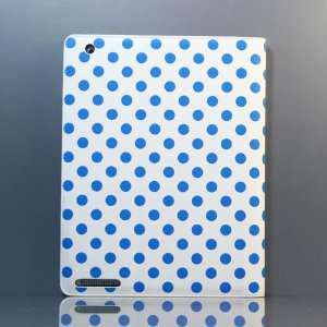 (White and Blue) Polka Dot Pattern PU leather case / Flip Stand