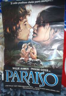 PARADISE PHOEBE CATES WILLIE AAMES MOVIE POSTER XRARE ARGENTINA