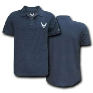 USAF AIR FORCE NAVY BLUE POLO SHIRT U.S. MILITARY SHIRTS