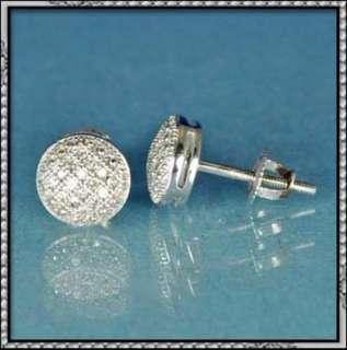 NEW 10K GOLD GENUINE DIAMOND STUD EARRING ROUND DESIGN
