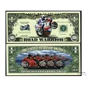 Set of 10 Bills Road Warrior Million Dollar Bill Toys