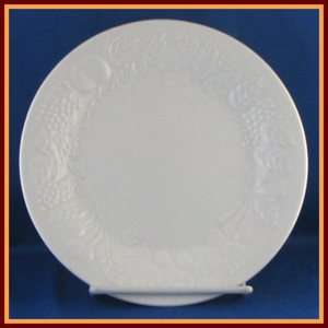 Gibson Embossed Fruit Design White Salad Plate 7 1/2
