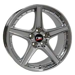(4) SALEEN STYLE CHROME FORD MUSTANG S281 18 INCH WHEELS