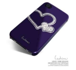 Bling Heart Chrome Mirror Diamond Crystal Hard Case Cover Apple iphone